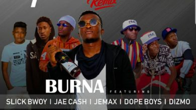 Photo of Burna Ft. Jae Cash, Jemax, Dope Boyz, Slick Bwoy & Dizmo – Fwedede Remix