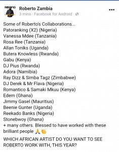 Roberto collaboration