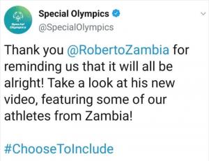 Special Olympics Roberto