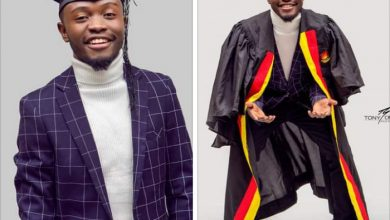 Photo of Dipsy Zam shows off graduation pictures