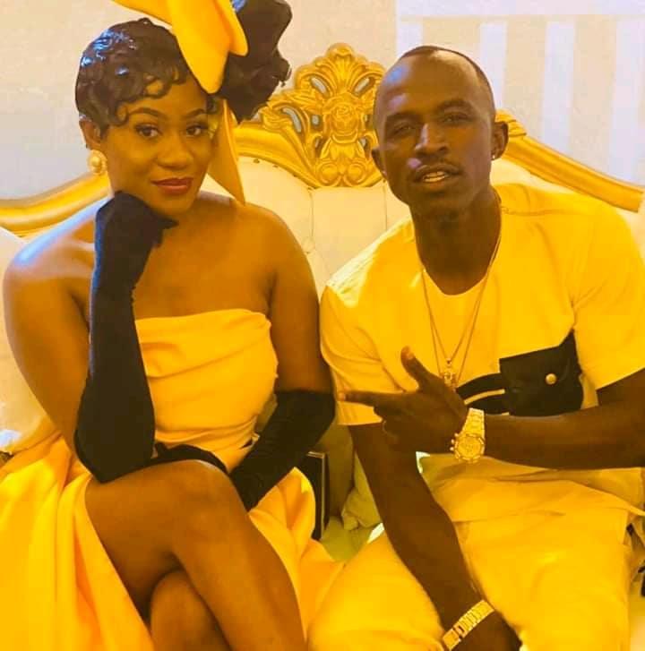 Mutale Mwanza with Macky 2