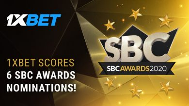 Photo of 1xBet shines with 6 nominations at the 2020 SBC Awards
