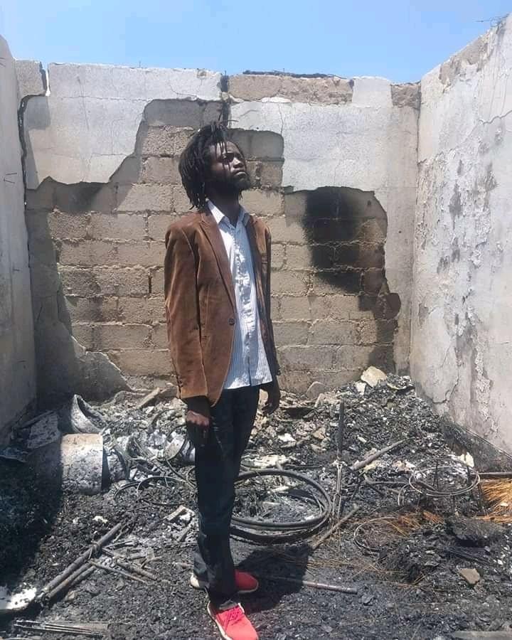 Mumba Yachi's studio burnt to ashes